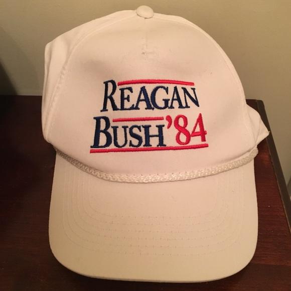 f035d086c5a82 Reagan Bush  84 Rowdy Gentleman White Snap Hat. M 5a56aee200450f51cf006d0a